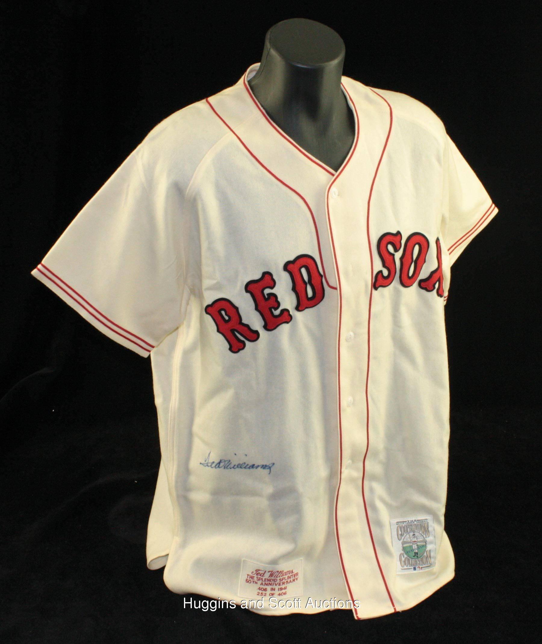 Ted Williams Autographed Boston Red Sox Replica Jersey 09a4512ad4c